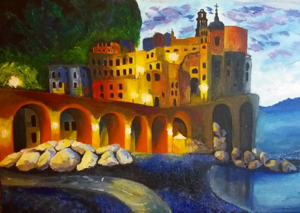 Amalfi Art - Acrylics Painting on Canvas
