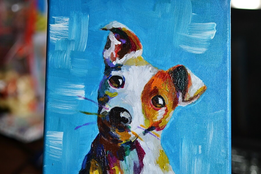 Puppy Soul - Dog Painting in Acrylics - Jack Russell Painting