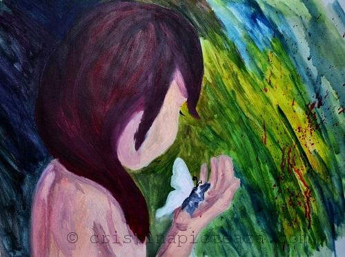Anxiety Painting by Cristina Iordache - 2014