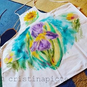 Painting on apron - Cristina Iordache