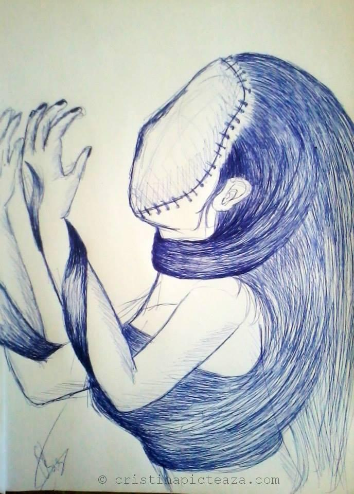 Cristina-Iordache - Anxiety drawing - 2013