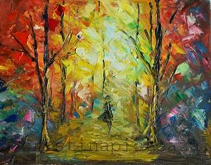 Impressionist paintings - Forest