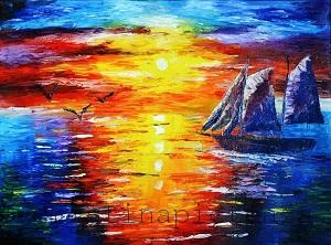 Ship Painting in Oil