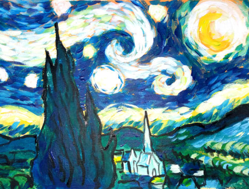 Van Gogh Style - Starry Night Techniques