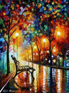 Loneliness of Autumn by Leonid Afremov Photo source: https://afremov.com
