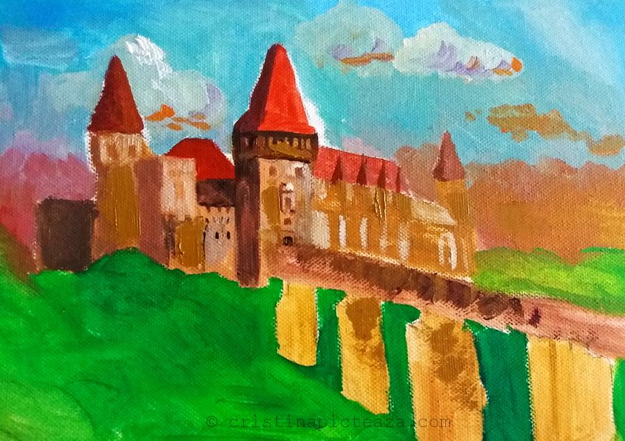 First try on my oil painting - Corvin Castle Painting