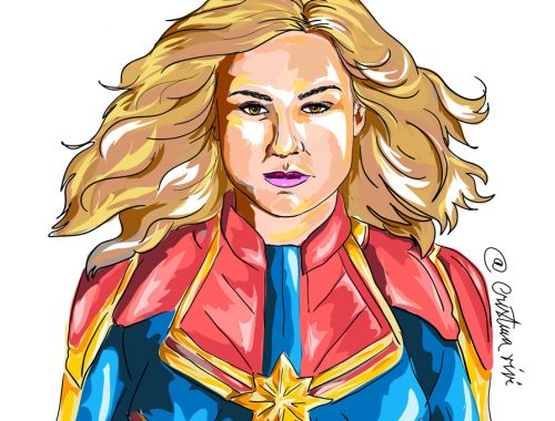 Captain Marvel Art - Digital Painting Video