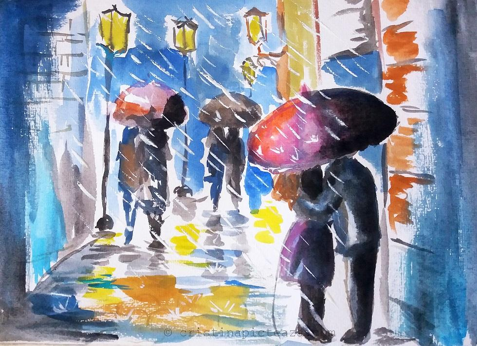 Loose watercolor painting