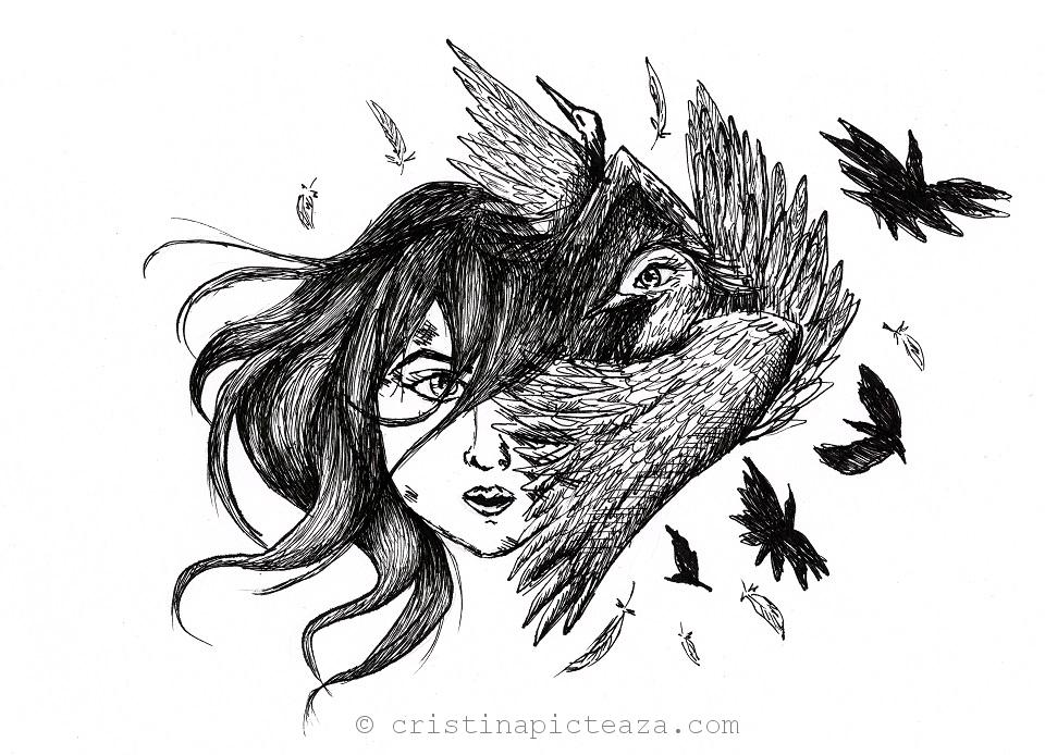 Awaken Dreams - Pen and Ink Illustration tutorial