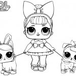 Lol Coloring Pages - Lol dolls - Papusa lol de colorat