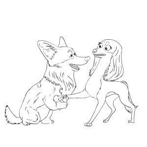 Dog coloring sheets