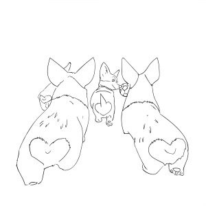 Corgi free coloring pages