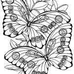Fisa de pictat - Butterfly coloring