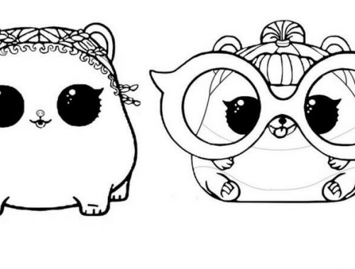 Planse de colorat cu LOL suprirse - LOL Pets coloring pages