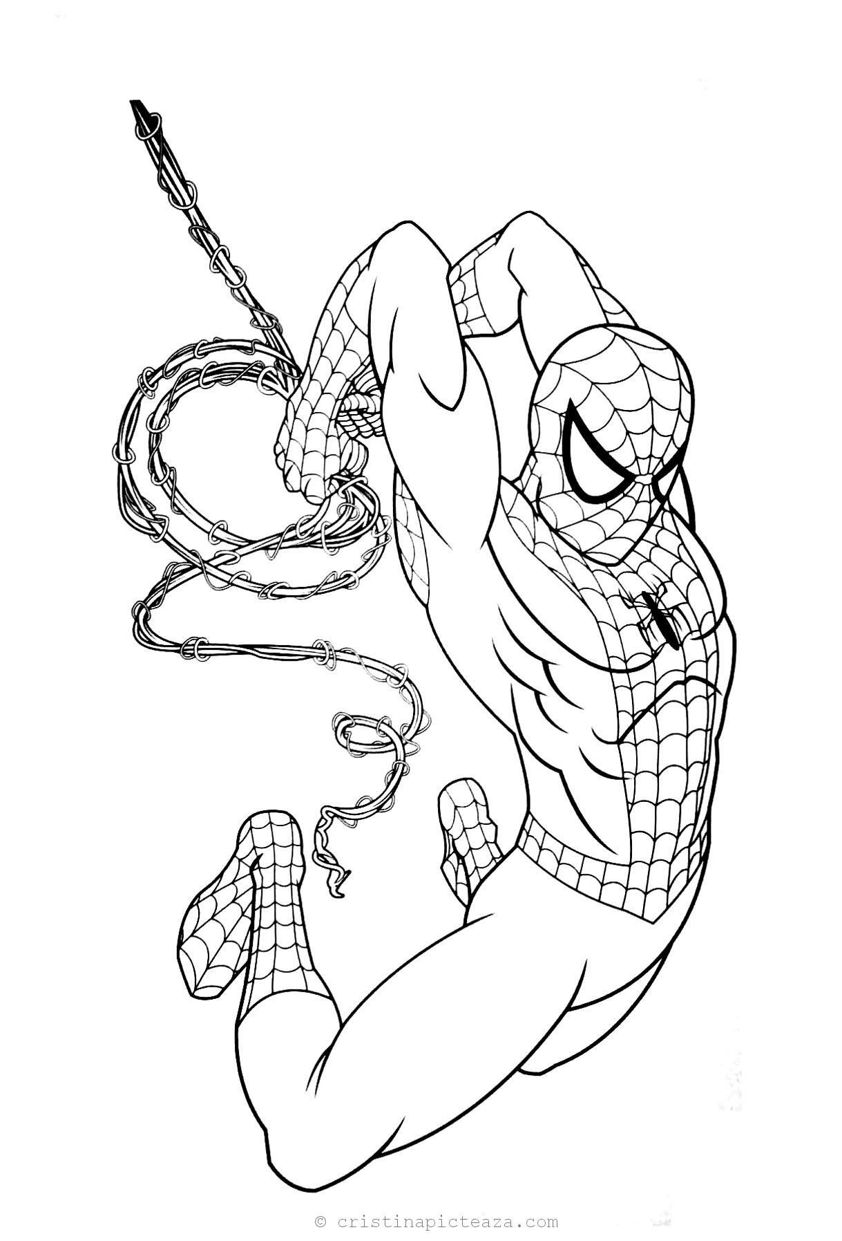 Spiderman Coloring Pages Far From Home Coloring Sheets