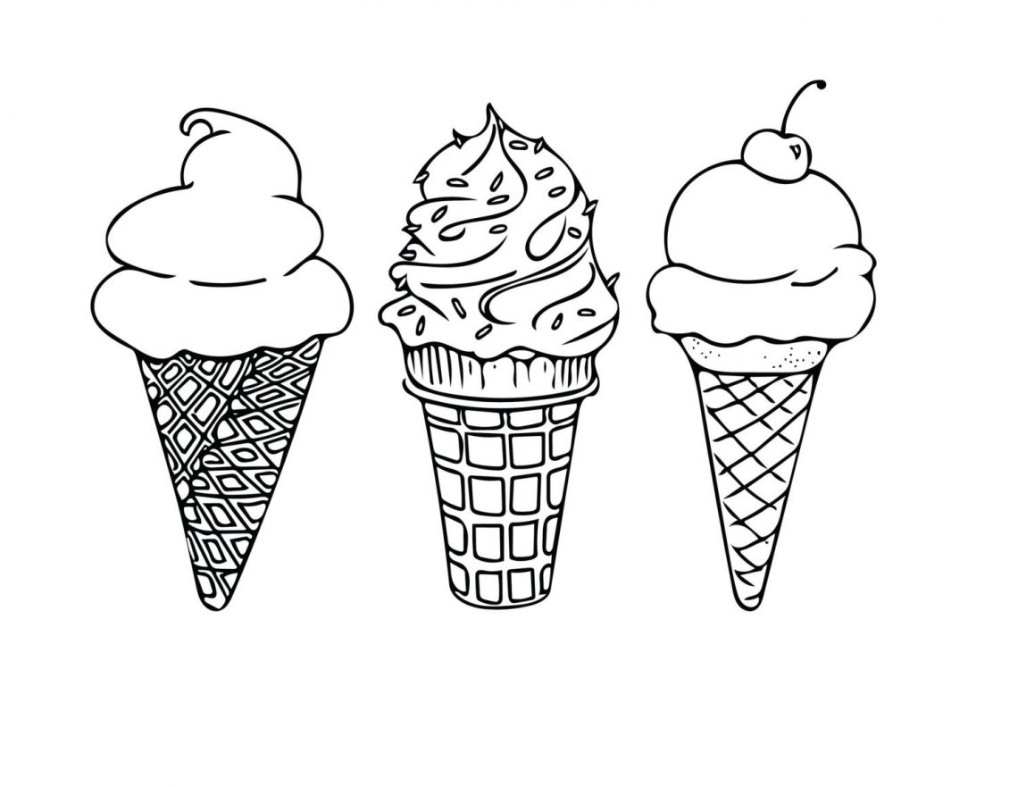 Coloring Page Of Ice Cream Pages For Coloring With Popsicles