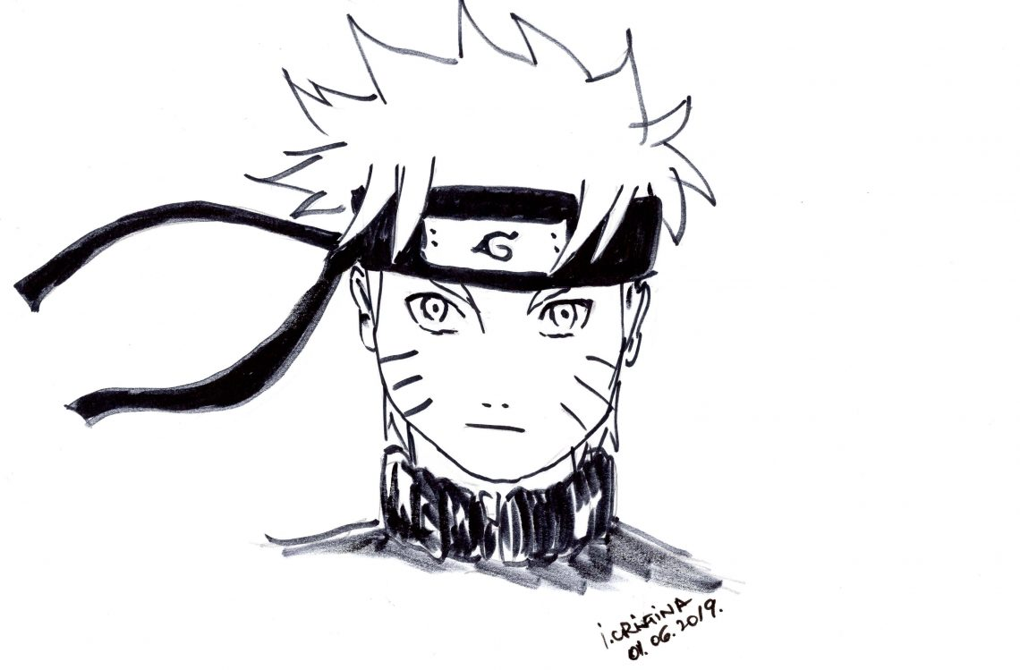 How to draw Naruto face (Video) – Step by step tutorial