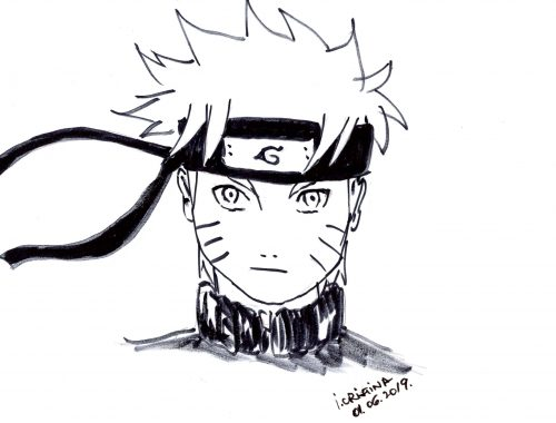 How to draw Naruto face - Cristina Painting