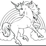 Unicorn coloring pages - Unicorn de colorat