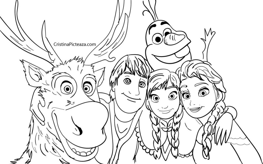 Frozen 2 Coloring pages Cristinapicteaza.com
