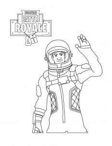 Astronaut Fortnite de colorat - planse de colorat fortnite for coloring