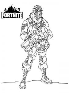 Raptor Fortnite de colorat - planse de colorat fortnite for coloring
