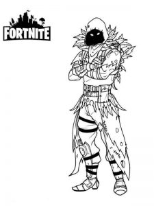 raven Fortnite de colorat - planse de colorat fortnite for coloring
