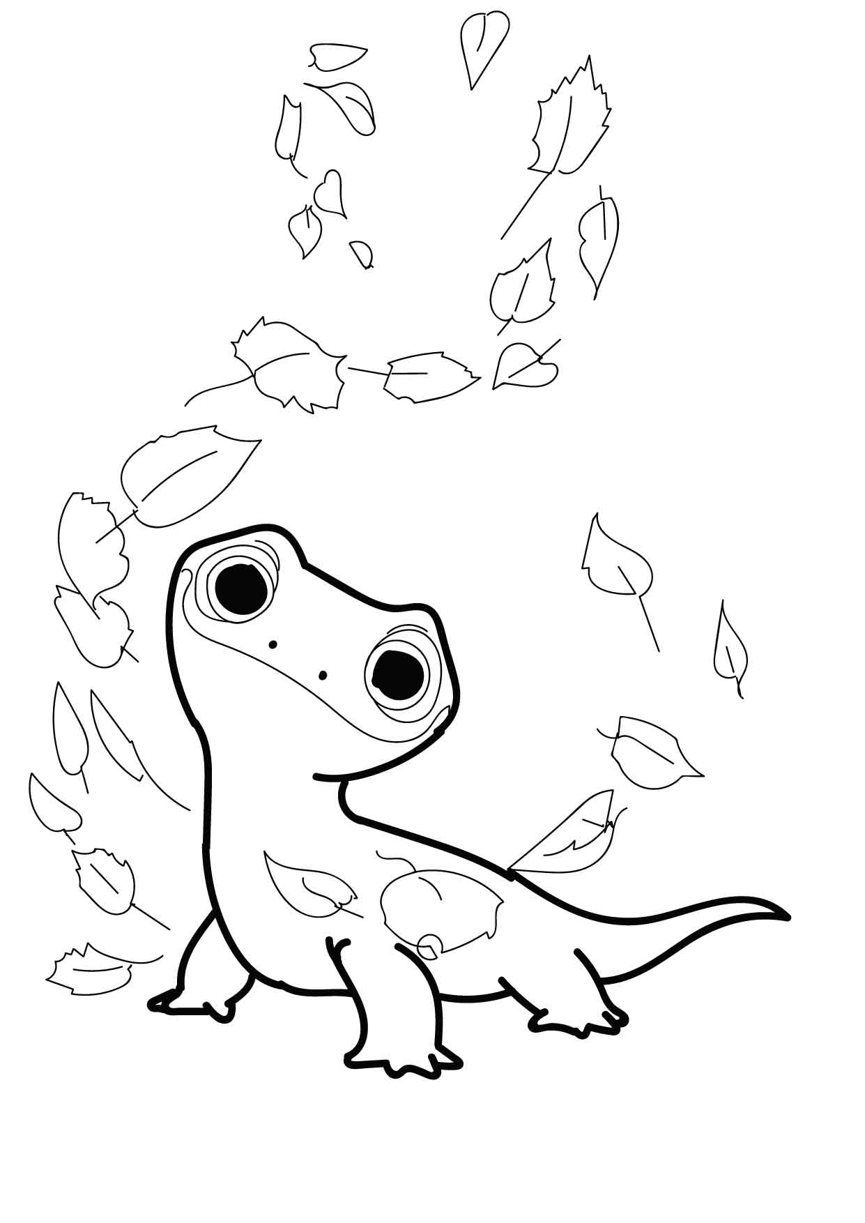 Lizard Coloring Page - Free Lizard Coloring Pages : ColoringPages101.com | 1754x1241