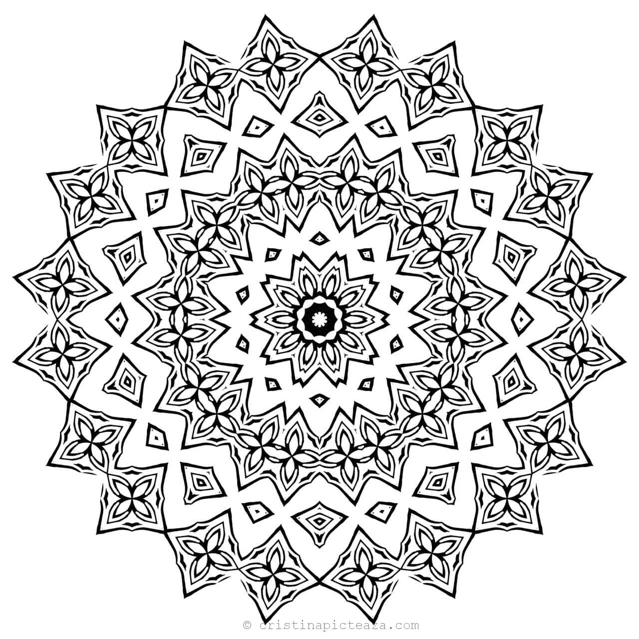 Mandala for Coloring - Cool Coloring pages for adults