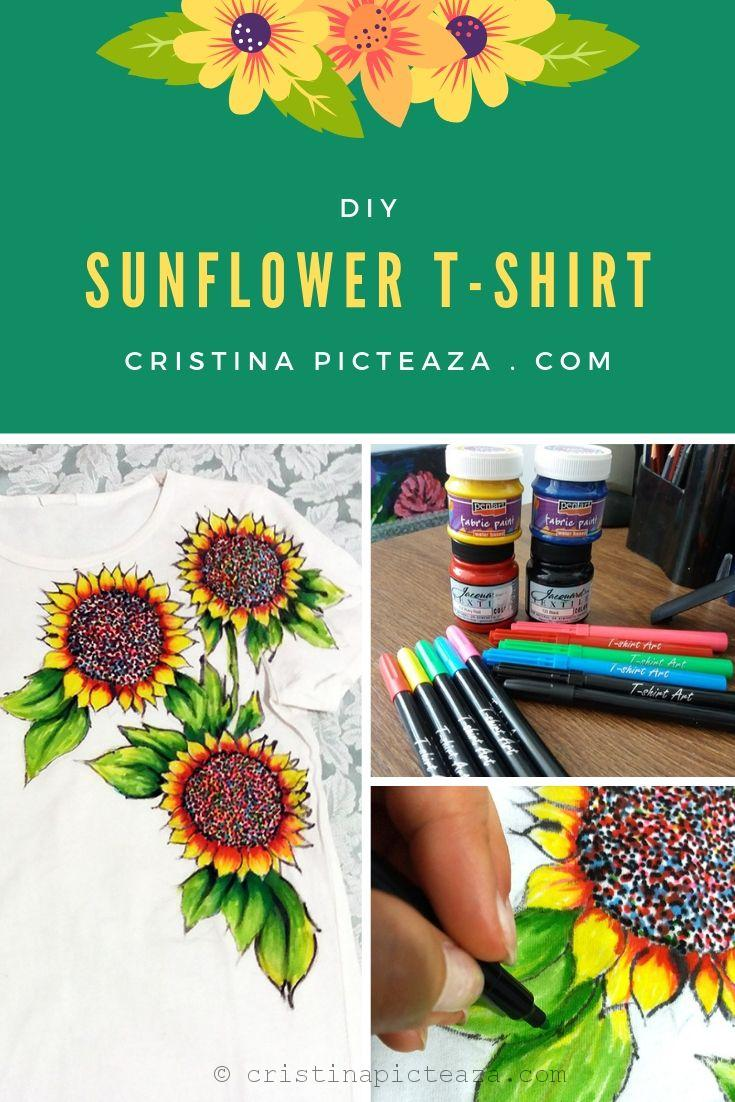 SUNFLOWER DIY TSHIRT PAINTING