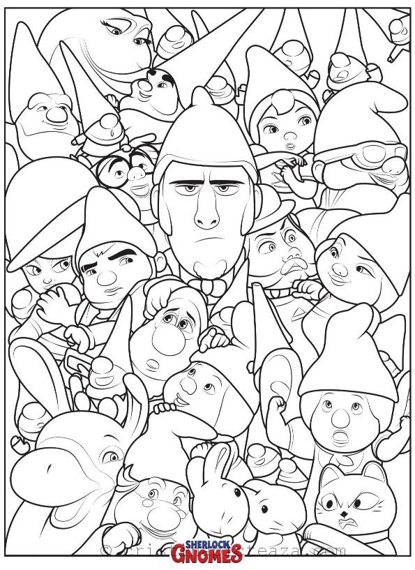 Sherlock Gnomes Coloring Pages Cristina Is Painting