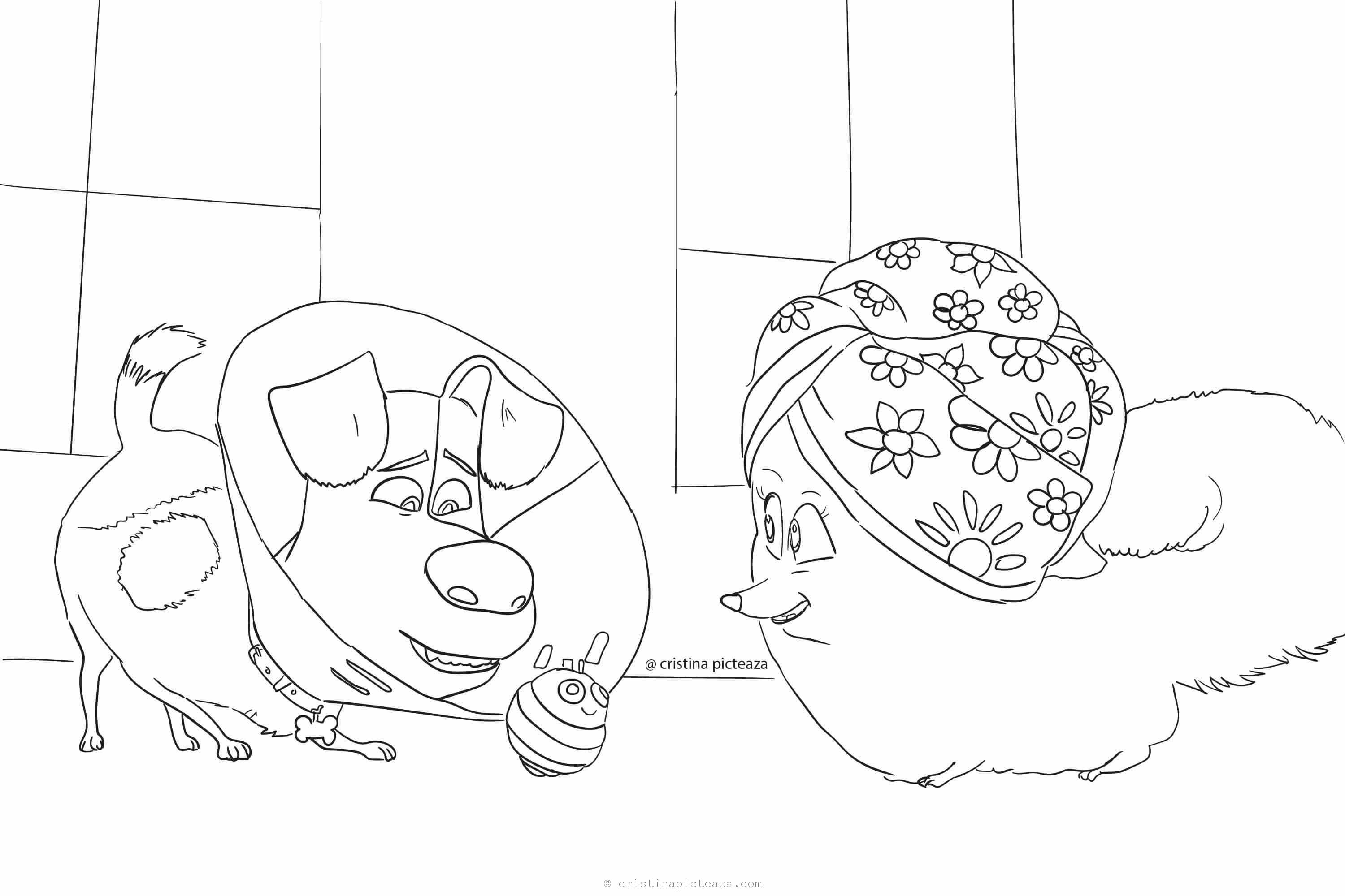 Secret Life of Pets 2 Coloring Pages - Cristina is Painting