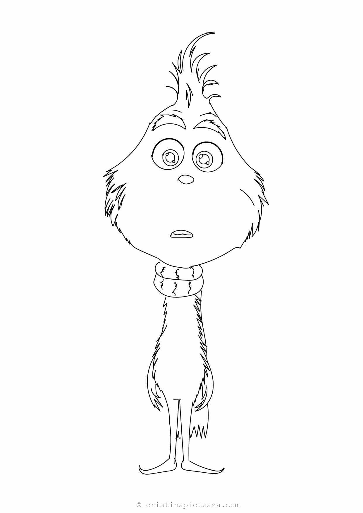 The Grinch coloring pages - Drawings sheets with Grinch