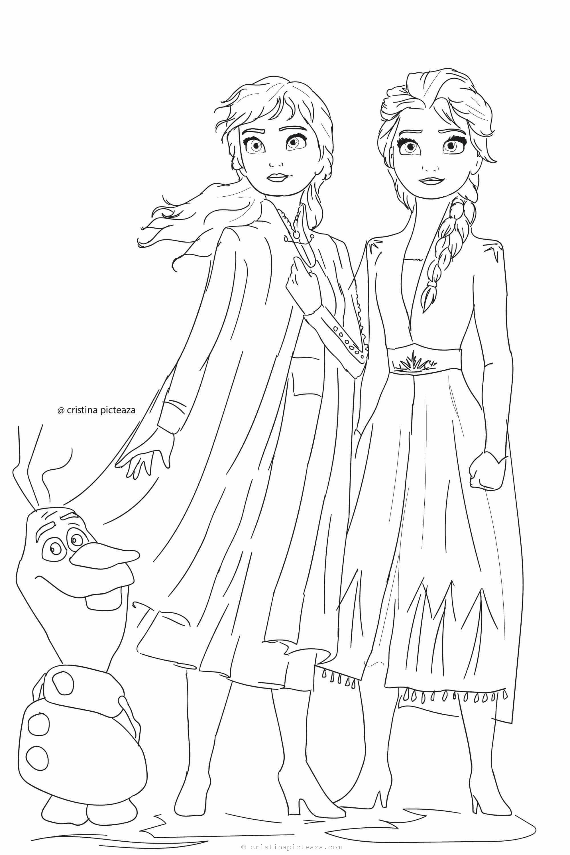 Frozen 2 Coloring Pages Elsa