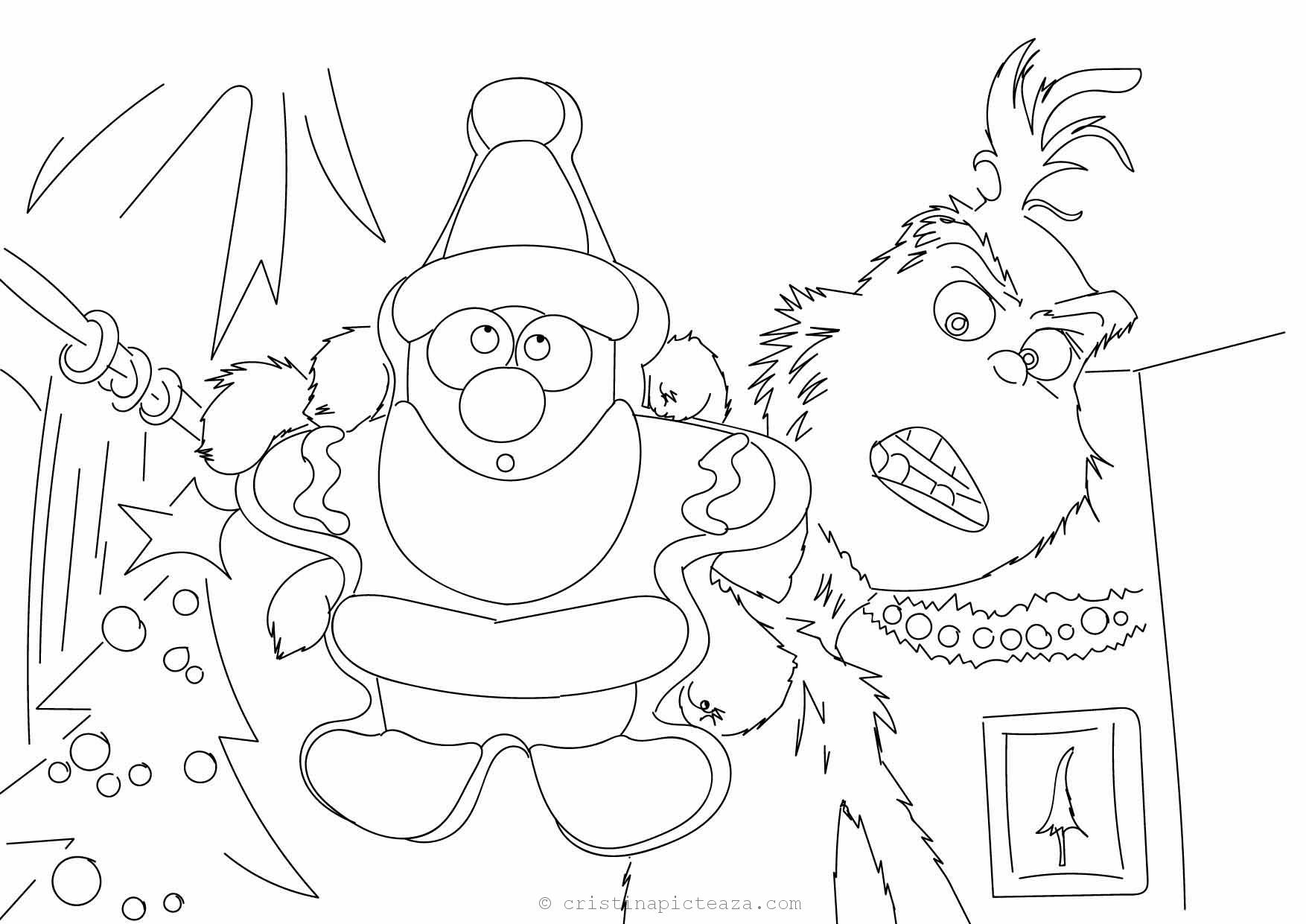 - The Grinch Coloring Pages – Drawings Sheets With Grinch