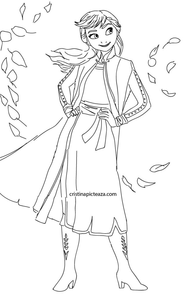 ana coloring pages frozen Cristinapicteaza.com