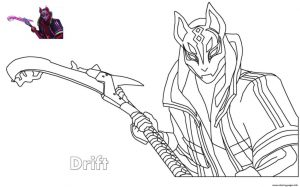 Drift Fortnite de colorat - planse de colorat fortnite for coloring