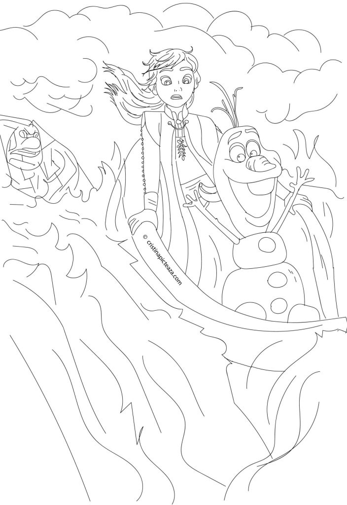 Frozen 2 Cristinapicteaza.com Anna Olaf Coloring pages