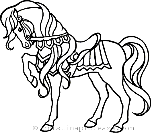 Horse Coloring Pages Drawing Sheets With Horses