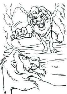 The Lion King coloring pages - planse de colorat cu Regele Leu