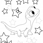 Frozen 2 Lizard Coloring page