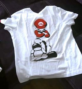 Super Mario T-shirt design