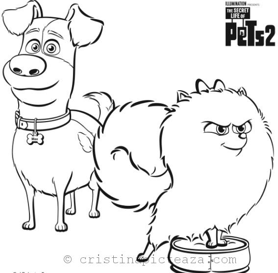 Secret Life Of Pets 2 Coloring Pages Cristina Is Painting