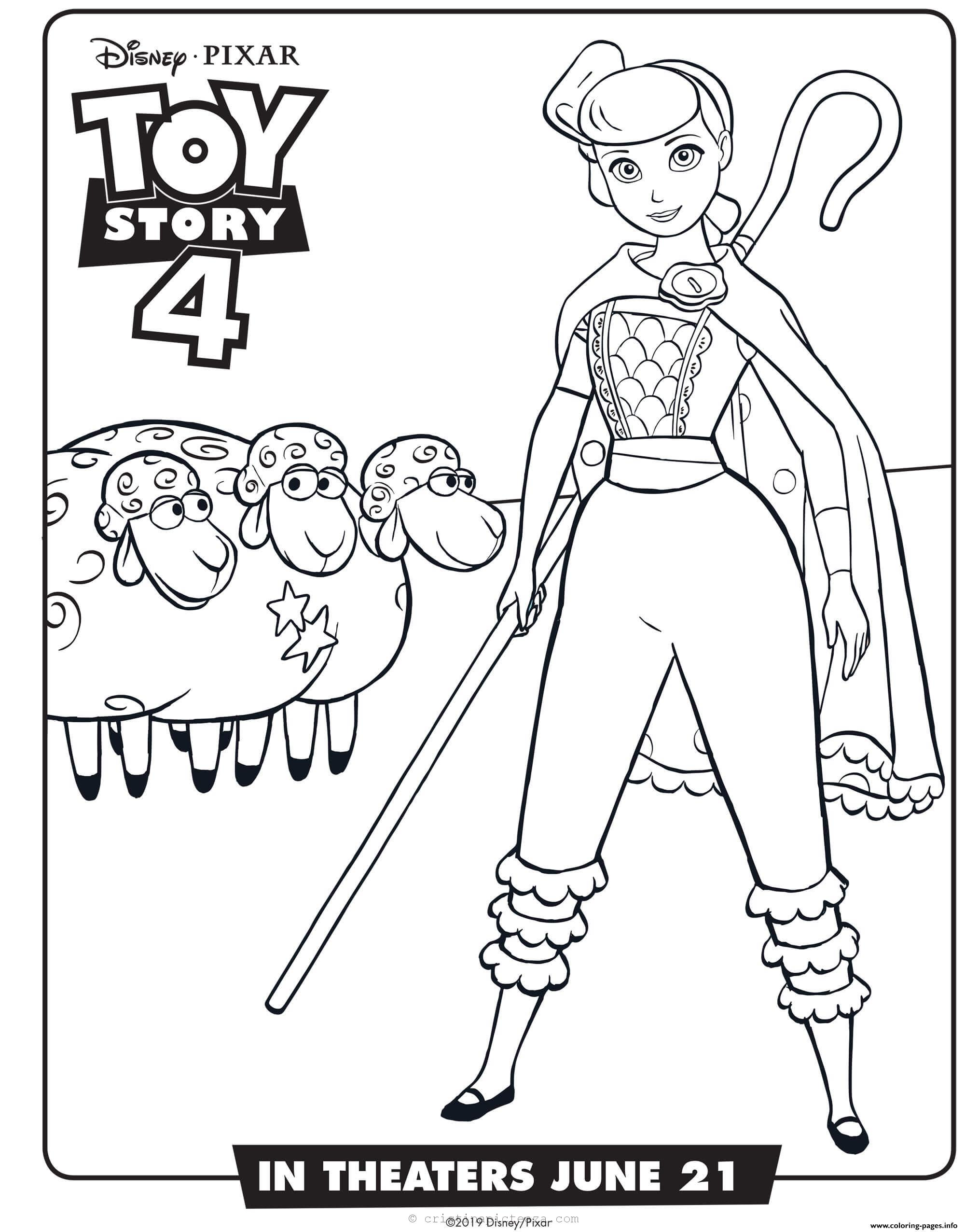 Toy Story 4 Coloring Pages Pages For Paintings And Coloring