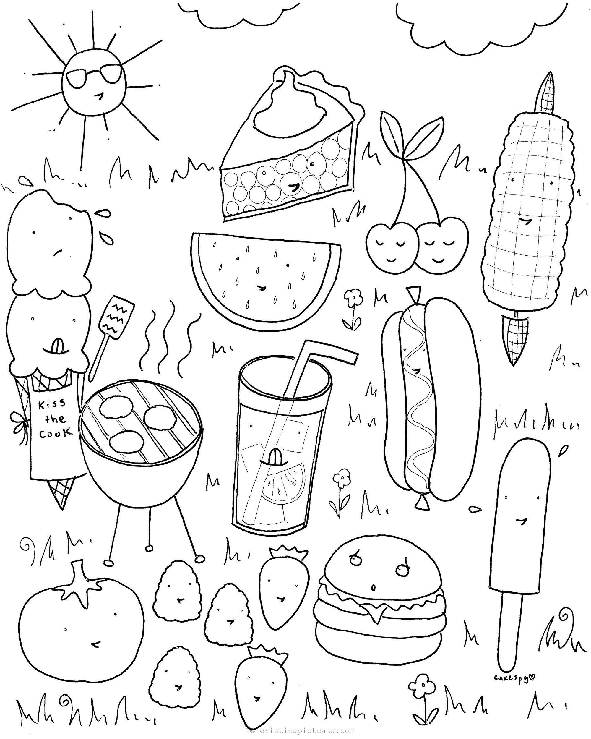 Summer Coloring Pages – Summer drawings for coloring and painting