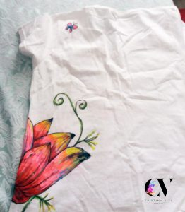 flower tshirt painting