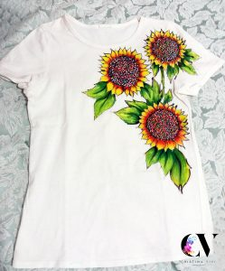 sunflower tshirt painting ideas