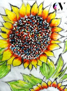 sunflower t-shirt painting ideas