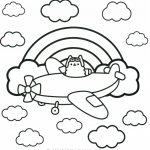 Pusheen pilot de colorat