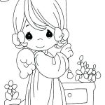 small angel coloring pages
